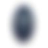 Fond de sac en cuir bleu marine , 23 cm