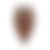 Fond de sac coeur marron, 20 x 18 cm