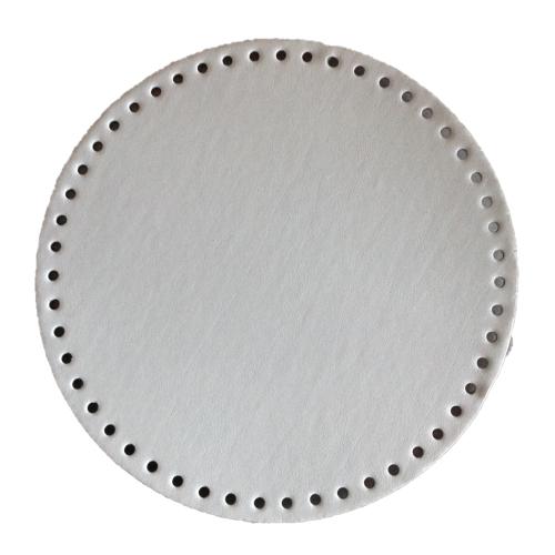 Fond de sac  cuir gris nude, 23 cm