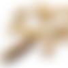 Bouton buchette en bois brulé aspect bambou 44 mm