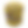 Trapilho coton jaune et taupe effiloché