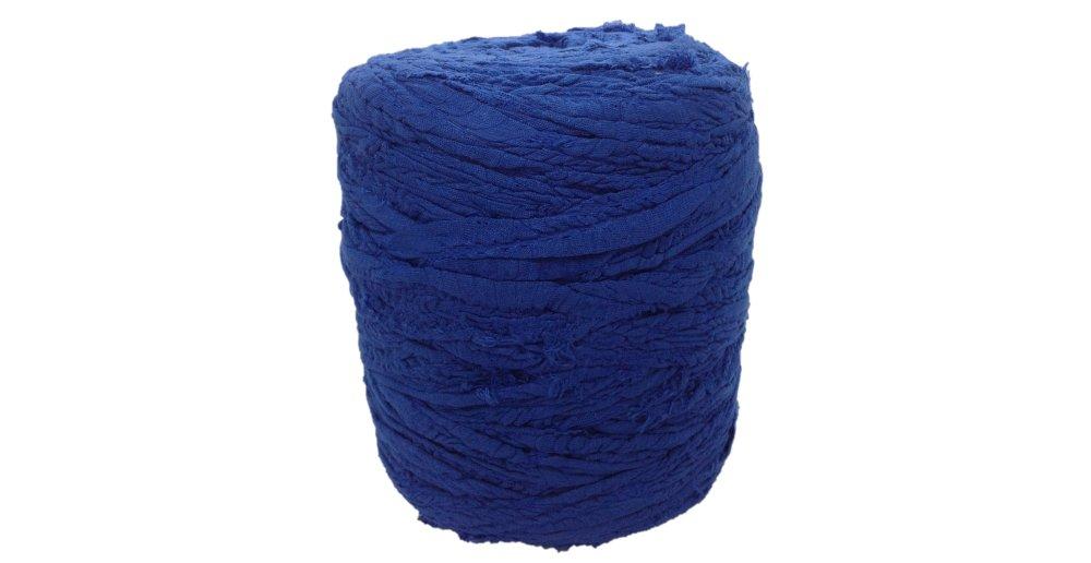 Trapilho coton Bleu saphir  effiloché