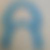 Anses demi cercle pour sac  turquoise, 17x12 cm