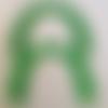 Anses demi cercle pour sac  vert vif, 17x12 cm