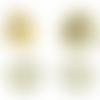 Bouton pression fermoir magnétique doré 18 mm