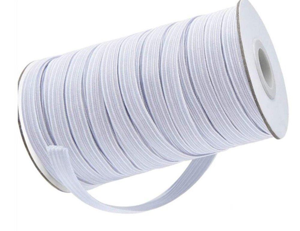 Elastique pour masque - Blanc 7 mm