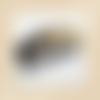 Peigne dégradé (noir, transparent et fragments or)