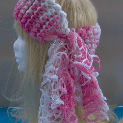 Bandeau Foulard Pour Cheveux Rose Degrade Blanc Un Grand Marche