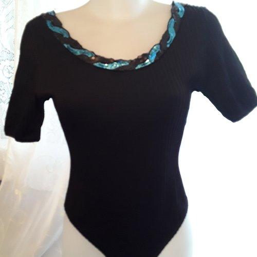 Haut blouse body en jersey/ lycra  noir taille 40/ 42