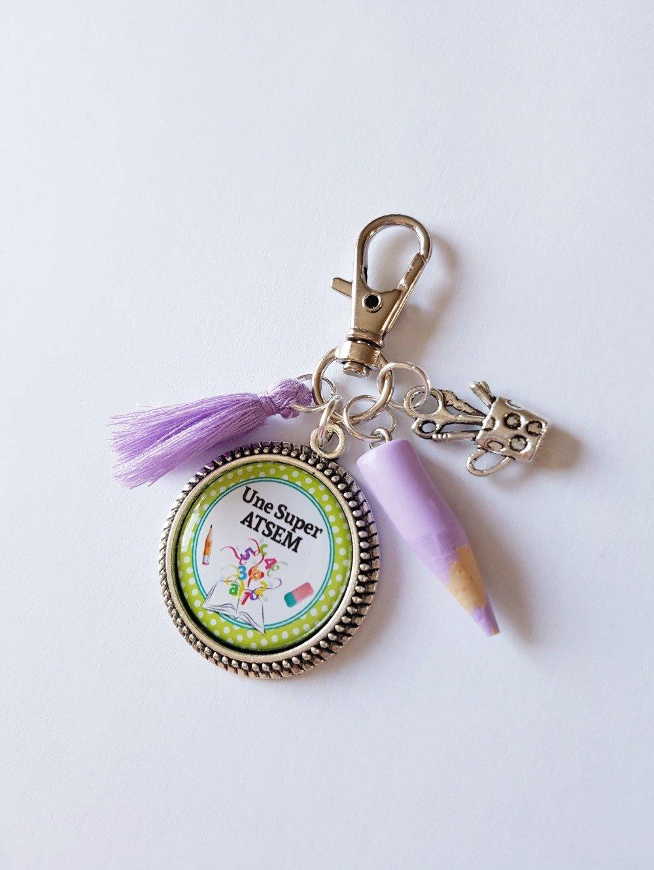 Porte-clef ATSEM Idée cadeau fin d'année maternelle remerciements