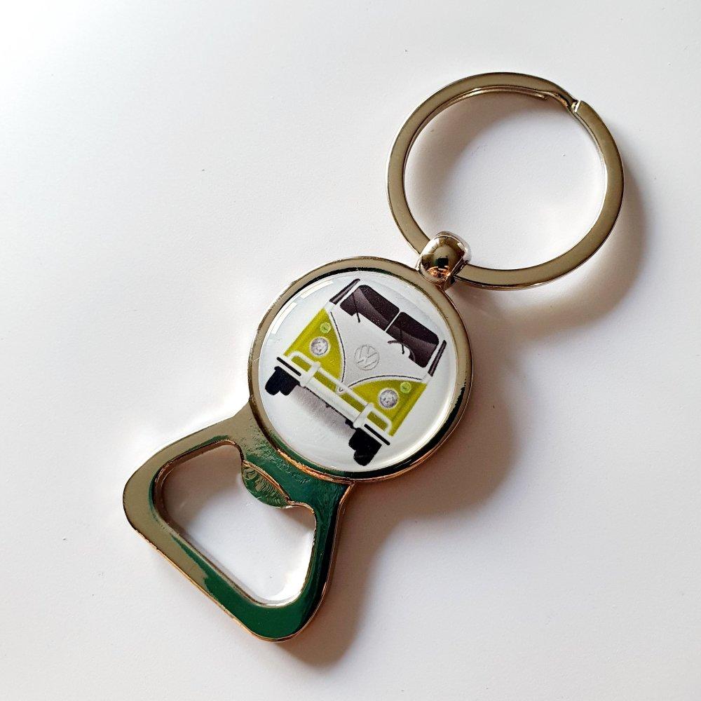 Réservé *** Porte-clef décapsuleur van combi vw idée cadeau papi grand-père anniversaire fête