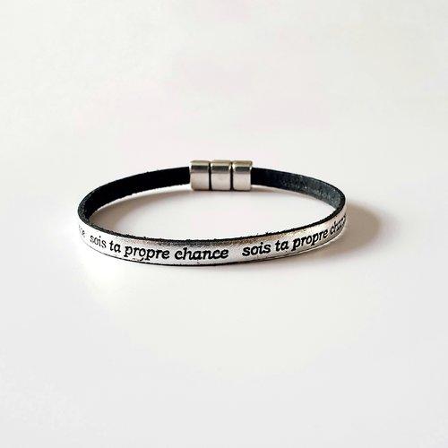 Ailes d/'ange Encre Noire Verre Cabochon Bracelet Tressé Bracelet En Cuir Bracelets