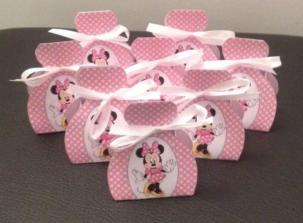 Boîtes à dragées minnie rose