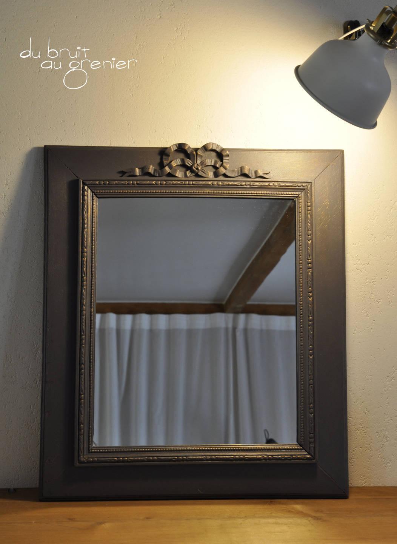 Miroir en bois ancien