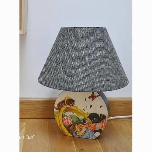 Lampe de chevet enfant style vintage