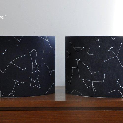 Abat-jour décor constellations