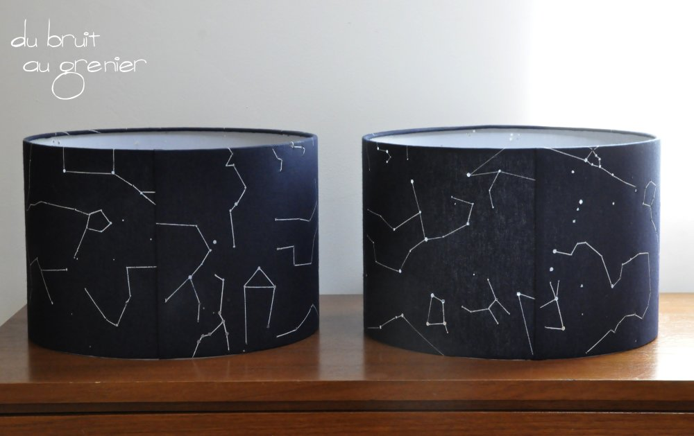 Abat-jour décor constellations