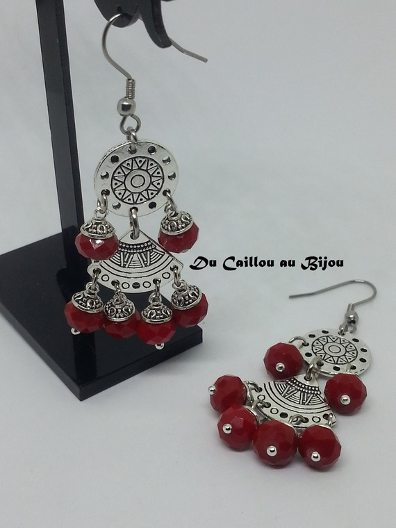 Boucles d'oreilles en perles de verre