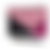 Trousse à maquillage ou grande trousse en simili cuir et paillettes rose & noir