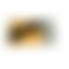 Etui à lunettes similicuir jaune  molletonné graphique