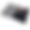 Pochette  à rabat en suédine et coton vichy noir