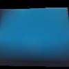 Pochette  à rabat en coton noir et  polycoton bleu à pois blanc