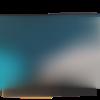 Trousse à maquillage ou grande trousse en simili cuir et paillettes bleu