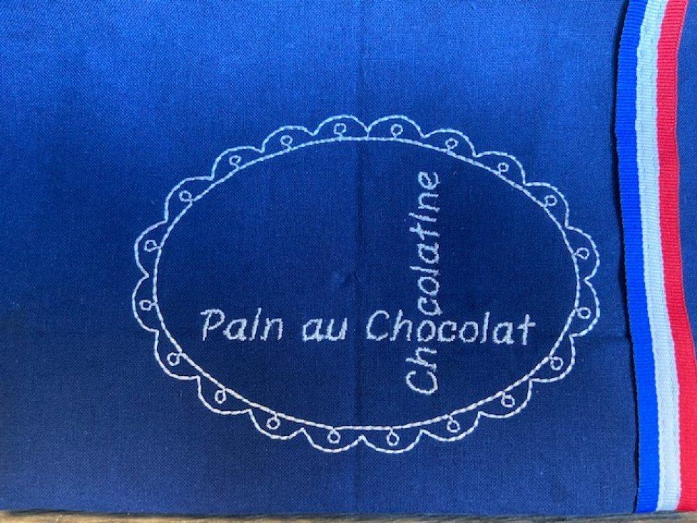 """Panière à viennoiseries """"Bleu Marine"""""""