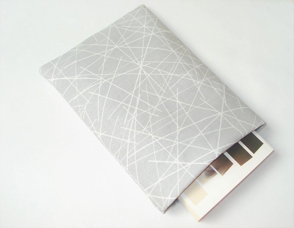 Housse pour livre de poche Sans bouton pression - Pochette / Poche pour livre - Housse de protection - Traits