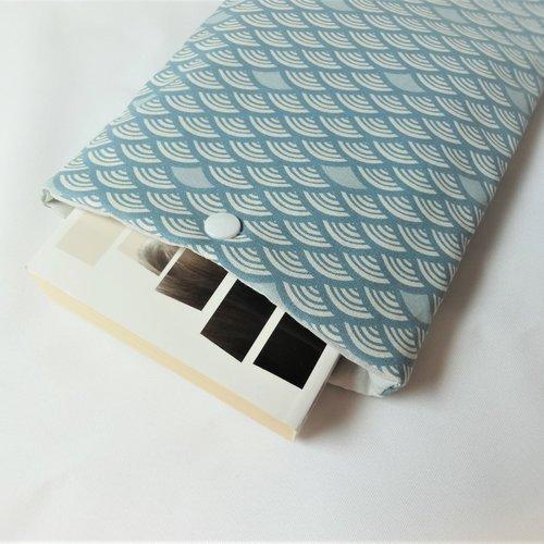 Housse pour livre de poche avec bouton pression - pochette / poche pour livre - housse de protection - imprimé japonais