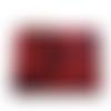 Grande trousse rouge et noir, pochette à motif floral rouge