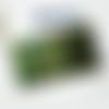 Porte-chéquier coloris vert et multicolore, protège chéquier original et unique