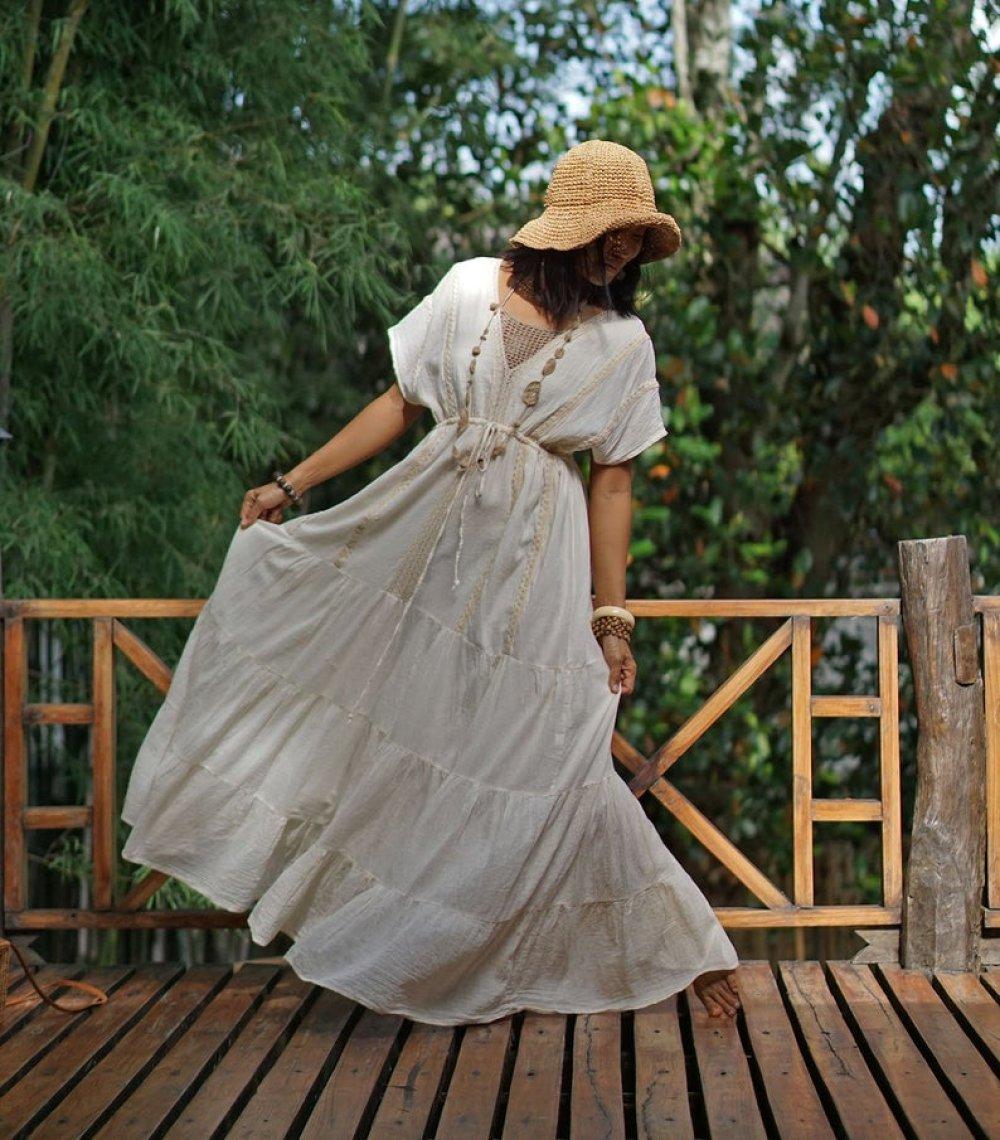 Robe En Coton Boheme