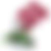 Composition florale  orchidée rose et fuchsia