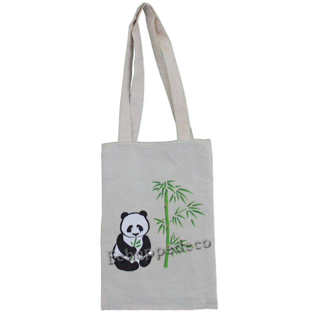 """Tote bag """" panda bambou """""""