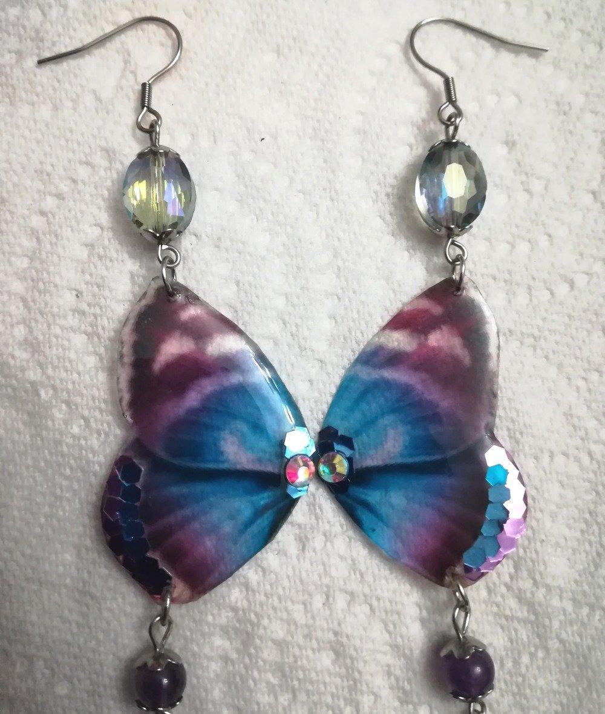 Boucles d'oreilles ailes de papillon love