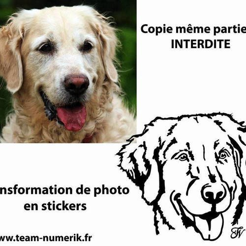 Stickers personnalisé animal compagnie, chien chat cheval