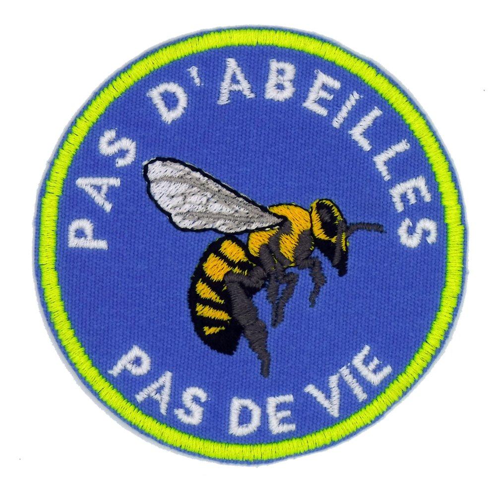 Écusson brodé Pas d'abeilles Pas de vie