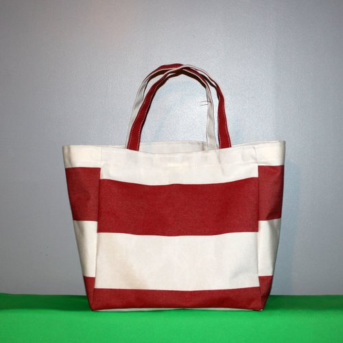 Tote bag - le sac à course français - fourre tout - totebag - sac porté épaule - cabas plage 30 x 30 x 19 cm / tissu recyclage upcyclé