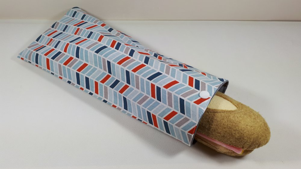 Sac à sandwich réutilisable spécial baguette - Tétris brique