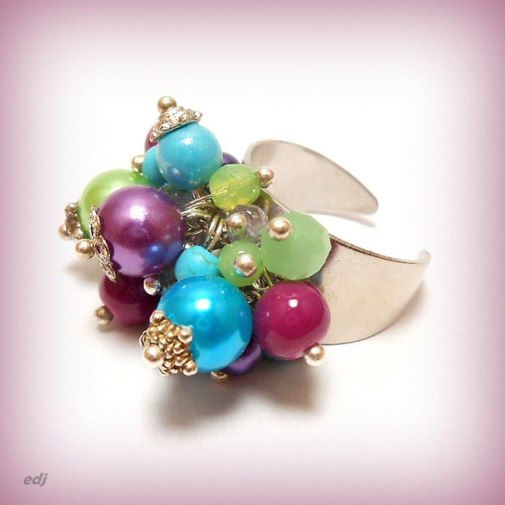 "Bracelet breloques perles ""Gaieté lumineuse"""