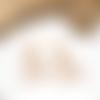Boucles d'oreilles bohème chic esprit graphique à franges perlées miyuki blanc nacré doré et multicolore saumon rouge cuivre
