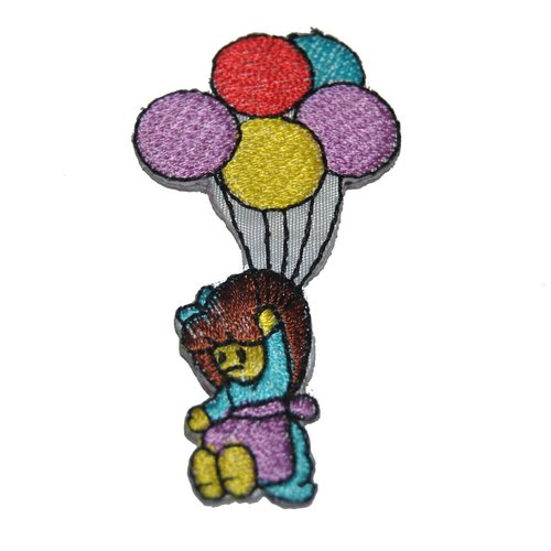 Patch ballon fille thermocollant coutures