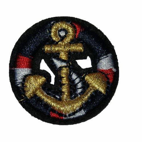 Ecusson patch bouee ancre marine thermocollant couture