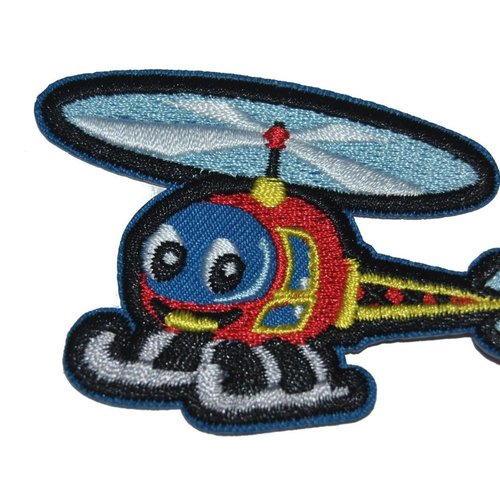 Patch helicoptere ecusson thermocollant couture