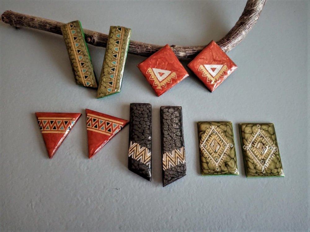 1 lot de 5 paires de breloques fait main pour la création