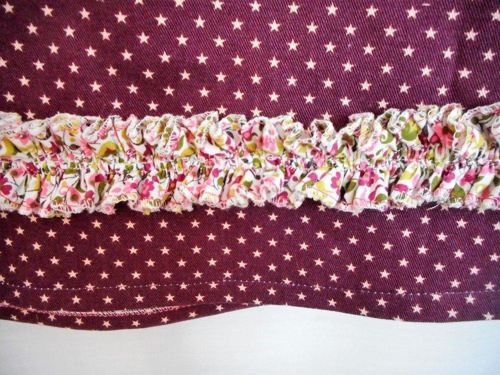 Robe Trapèze Fille 2-3 ans Robe Printemps Chasuble Sergé Etoiles Coton Fleurs