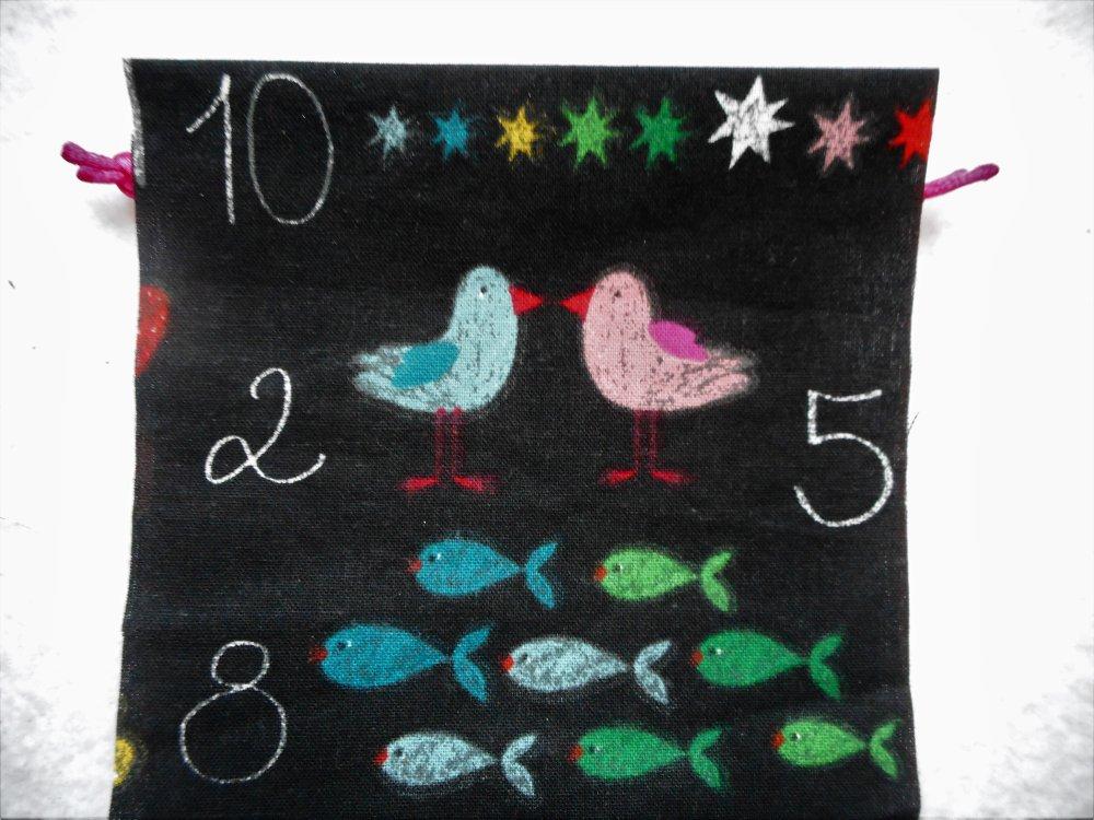 Cadeau Maîtresse Maître d'Ecole Atsem Asmat Etui à Lunettes Merci Tableau Noir Chiffres Cadeau Fin D'Année Scolaire en Coton