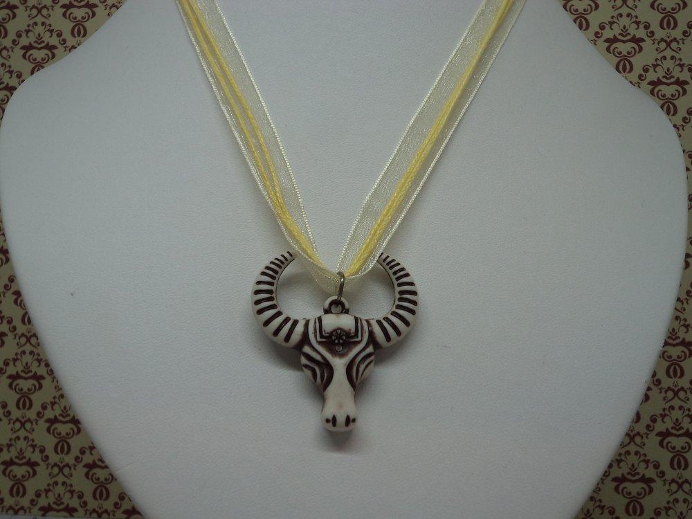 bijou fantaisie personnalisé collier et pendentif tête de bête pour les amoureux de country, idée cadeau anniversaire