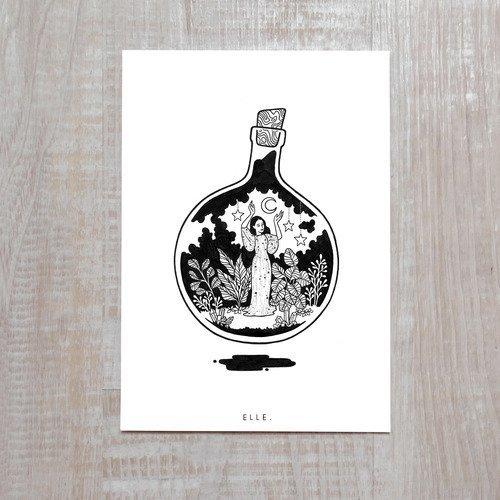 Girl bottle